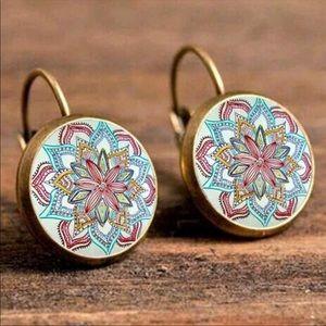 Bohemian Gypsy Round Drop Earrings